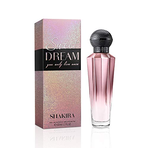 Shakira Perfume Sweet Dream by Shakira for Women, Sweet and Floral Fragrance, 1.7 FL OZ 50ml Eau de Toilette Spray, Paraben Free, Sulfate Free
