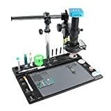 Manyao Plataforma de reparación de microscopio de Aumento Profesional 36MP 4K HDMI Cámara de microscopio 120x / 180x / 300x C Lens de Montaje 144 Lámpara LED (Color : B, Magnification : 120X)