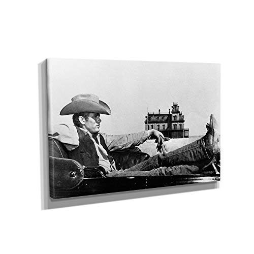 James Dean Canvas Art Wall Art Home Decor (18in x 12in Gallery Wrapped)