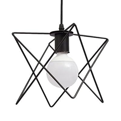 Art Deco Lighting Industrial Simple Geometric Design Edison Vintage Style 1-Light Pendant Hanging Light Mini Metal Flush Mount Ceiling Light Fixture Pendant Light for Living Room/Coffee Shop