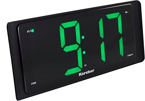 Karcher UR 1090 Uhrenradio (UKW, großes Display, Dual-Alarm, Wochenend-Funktion, Snooze, Sleep-Timer) schwarz