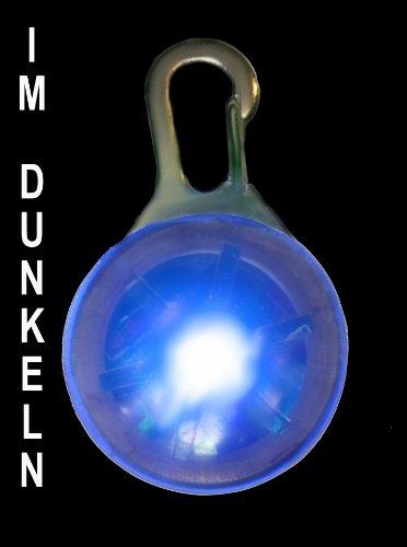 LED Leuchtanhänger in blau f. Hunde Katzen UVM. Leuchthalsband Led Hundehalsband Marke PRECORN
