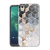 Pnakqil Hülle für Huawei Y5 2019/Honor 8S Phone, Silikon Schutzhülle TPU Clear Transparent Kratzfest Ultra Dünn Stoßfest Motiv Muster Handyhülle für Huawei Y5 2019/Honor 8S, Quadrat