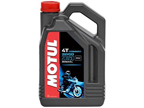 Motul 3000 4T 20W50 Mineralisches Motorenöl 4 Liter