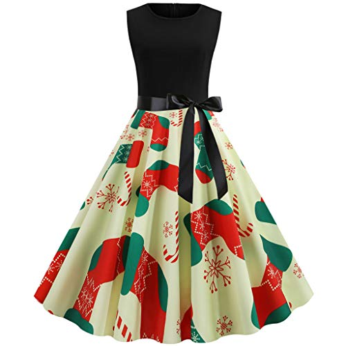Learn More About KYLEON Women's Christmas Dress Retro Vintage 1950s Christmas Party Dresses Cocktail...