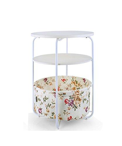 LHP Etagères Étagères Moderne Simple Mode Trois Couches Small Table Basse Sofa Side Table Téléphone Table Ronde (7 Couleurs Disponibles) (Couleur : B, Taille : 42 * 53cm)