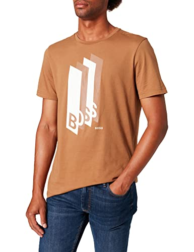 BOSS tee 2 Camiseta, Medium Brown216, XXXL para Hombre