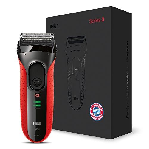 Braun Series 3&nbsp rasoio elettrico, 3030s, edizione FC Bayern Monaco, rosso