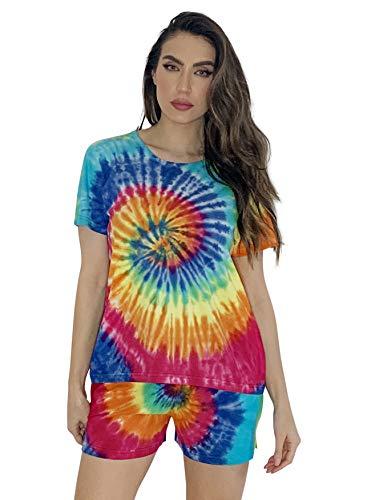Just Love Tie Dye Shorts Set for Women 6859-10477-3X