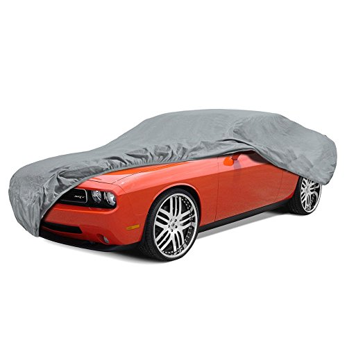 BDK Max Shield Car Cover for Dodge Challenger - UV Proof, Water Repellent, Paint Safe, Breathable