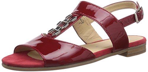 Sioux Damen Gisena Offene Sandalen mit Keilabsatz, Rot (fire), 37 EU