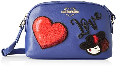 Love Moschino Unisex-Erwachsene Jc4094pp18lp0750 Kuriertasche, Blau (Blu), 17x7x26 Centimeters