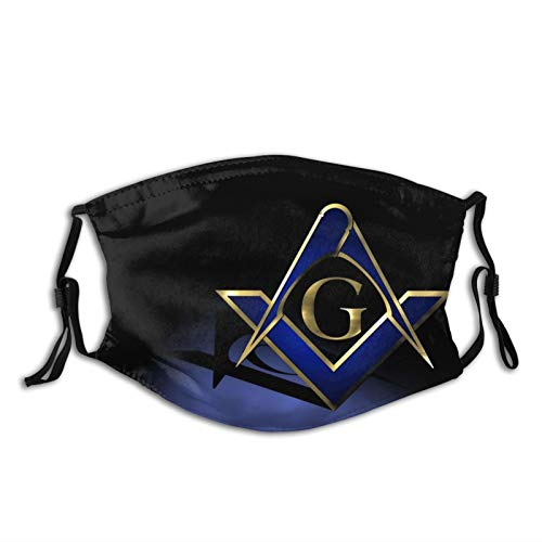Black Blue Freemason Reusable & Washable Anti Dust Balaclava Mask with 2 Filter Breathable for Adult