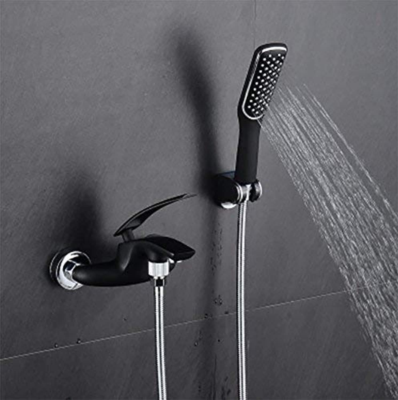 Oliwia Duschset - Badezimmer Wasserhahn Square - Duschkopf - Handbrause Stand Wandhalterung - Bad Wasserhahn - Dusche Set