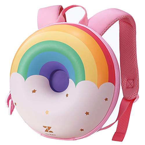 ZoyA Kinder 3D Donut Rucksack, süße Kleinkind Donut Schultasche Kids Creative Rucksack (Regenbogen)