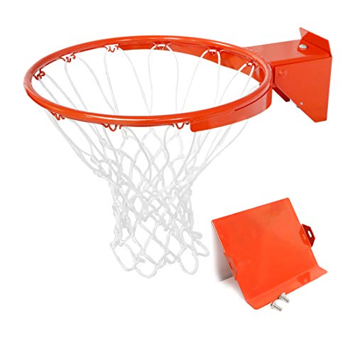 Pro Slam Professional 180º Heavy Duty Breakaway Basketball Rim,18 inch Double Spring Flex Rim Goal Replacement fit Indoor and Outdoor Backboard (for Smaller Aperture Backboard)