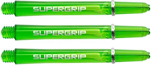 Harrows Supergrip - Cañas de Dardos (15 Unidades, Cortas), Color Verde