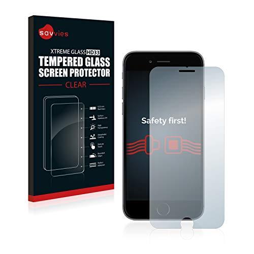 savvies Protector Cristal Templado Compatible con iPhone 6 Plus / 6S Plus Protector Pantalla Vidrio, Protección 9H, Pelicula Anti-Huellas
