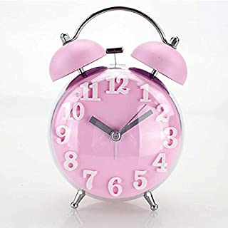 Table Clock Double Belling Alarm Kids Desktop Cartoon Watch Home Decoration Mute Electronic Christmas Desk Clocks