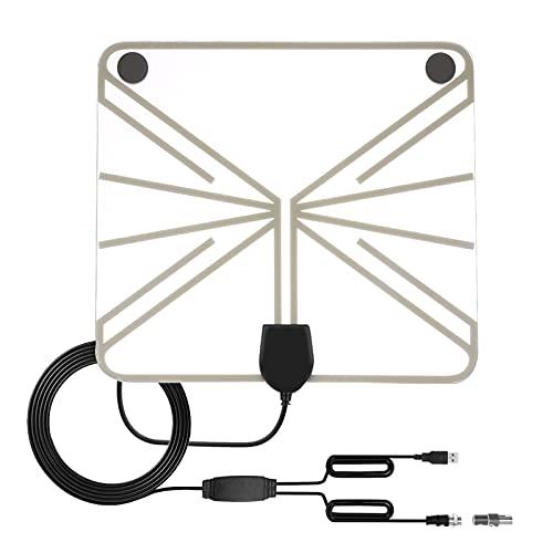 Antena de TV digital HD, amplificador de señal de largo alcance, antena de televisión interior amplificada