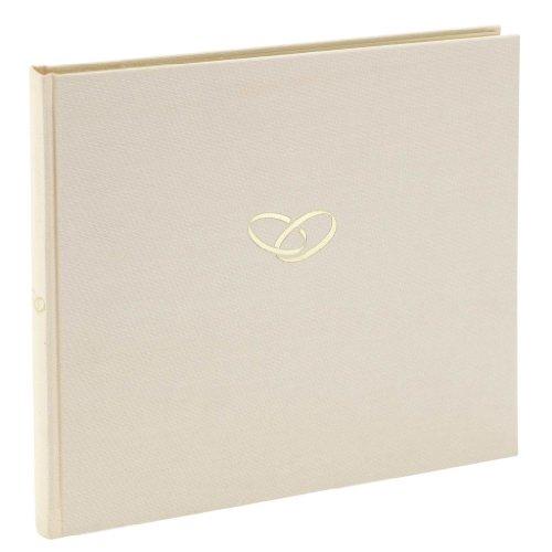 Semikolon (353547) Gästebuch Ringe, 240 Seiten, chamois