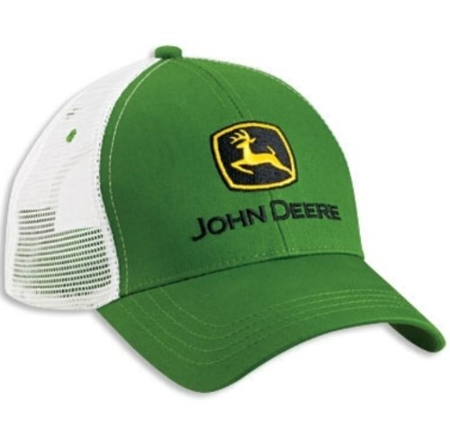 john deere mesh hats Green & White John Deere Mesh Trucker Adjustable Hat Cap Velcro