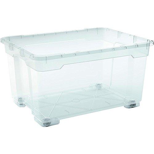 karton-billiger Aufbewahrungsboxen mit Deckel aus Kunststoff Plastikbox Kunststoffboxen 7 Verschiedene Größen 11-140L (L - 56,5x38x26mm)