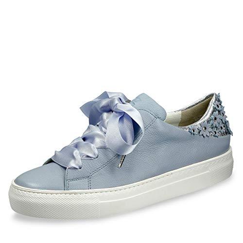 Paul Green 4626-024 Damen modischer Sneaker aus Glattleder Lederfutter -Sohle, Groesse 38 1/2, hellblau
