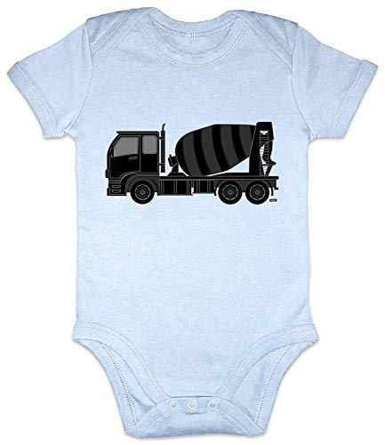 Hariz Baby Body à manches courtes Béton mélangeur pelleteuse enfants Baga Kleinkind Plus Cartes cadeau Bleu ciel clair 6-12 mois