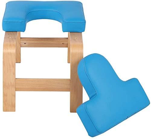 ZCYY Soporte Banco de inversión de Yoga, Banco de Apoyo para práctica de Ejercicio Soporte de Cabeza de Madera Diseño ergonómico Taburete de Silla Suave y Resistente