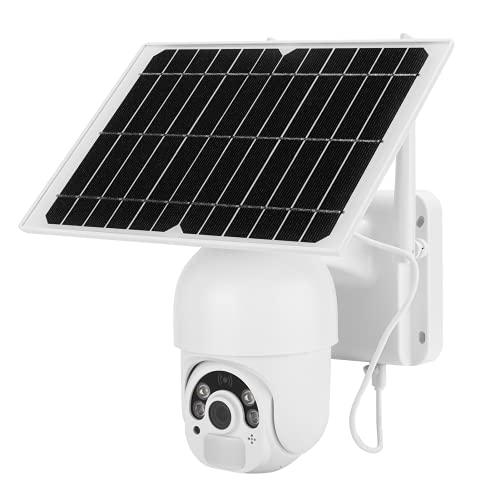 Ufolet Cámara de Seguridad, Color Noche Cámara CCTV WiFi Wide-Angel de 135 Grados Cámara Solar de 2MP para el hogar para Tierras de Cultivo Estanques de Peces para Exteriores para suburbios