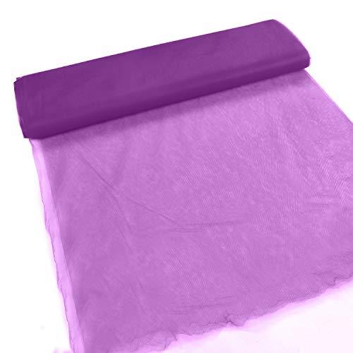 "Tela de tul 274 cm (108"") x (18,28 metros) Tul púrpura para faldas de tutú, arcos, sillas de boda, arcos, regalos para fiestas, decoración de mesa para banquetes"