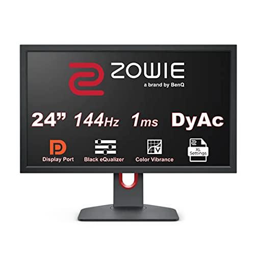 BenQ ZOWIE XL2411K - Monitor Gaming de 24' FHD (144 Hz, 1080p, 1 ms, regulación Flexible de Altura e inclinación, XL Setting to Share, DyAc, 120Hz compatible para PS5 y Xbox Series X) Gris Oscuro