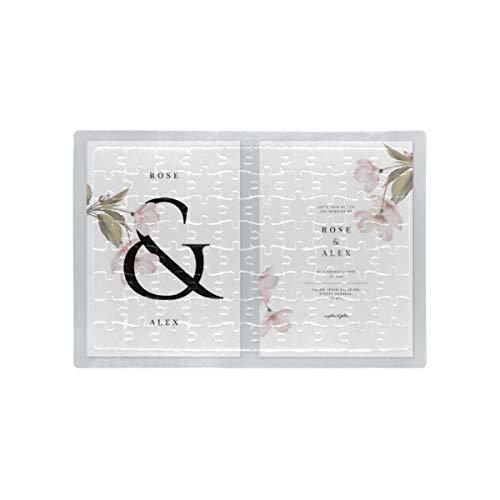 HJHJJ Puzzle Blumen Hochzeitseinladung Einladungskarte Vorlage Design Kinder Erwachsene Puzzle für Erwachsene Pädagogische intellektuelle Dekomprimierung Spaß Familienspiel