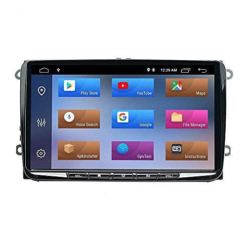 NVGOTEV Android 10 Unidad de Audio estéreo para Coche Fits for VW Golf 5 Plus 6 Passat B6 Polo 6R Skoda Fabia Seat Leon HD Pantalla táctil de navegación GPS con BT WiFi SWC,2GB+32GB