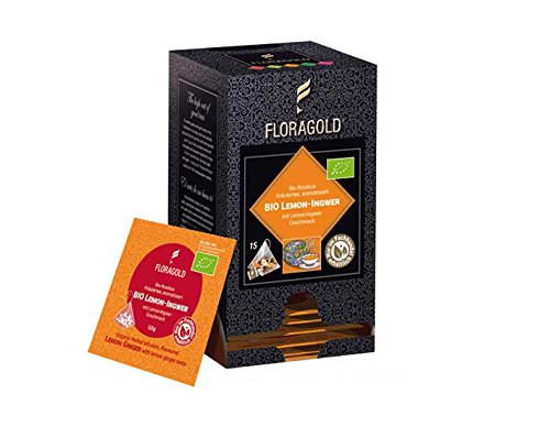 BIO Kräutertee »Lemon Ingwer« Floragold Pyramiden-Teebeutel 1 Pack