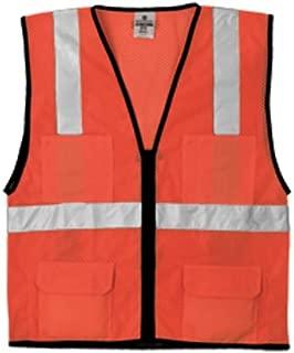 ML Kishigo 1192 Economy Series Ultra Cool Mesh 6 Pocket Vest, Fits Small and Medium, Orange
