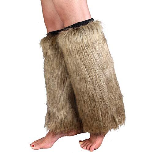 Faux Fur Leg Warmer,Warm Soft Cozy Fuzzy Leg Warmer Boot Cuff Cover for Women Party Costumes