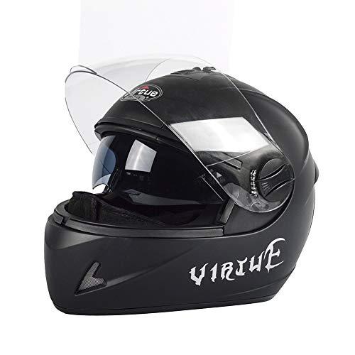 Helmet Casco de Moto Rage Solid Casco Deportivo Ultraligero Transpirable Negro Mate
