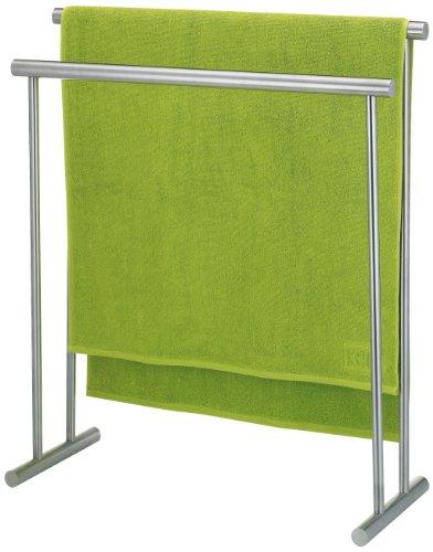 Kela 22691 porte-serviettes, acier inoxydable mat, longueur 76 cm, hauteur 85 cm, 'Priamo'