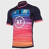 LQLD Scotland Rugby Jersey, 2021 Scotland Shortsleeve Jersey de Rugby, Jersey d'entraînement Ecosse,Training Wear,3XL