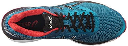 ASICS Men's Gel-Cumulus 18 Running Shoe, Island Blue/Black/Vermilion, 11.5 M US