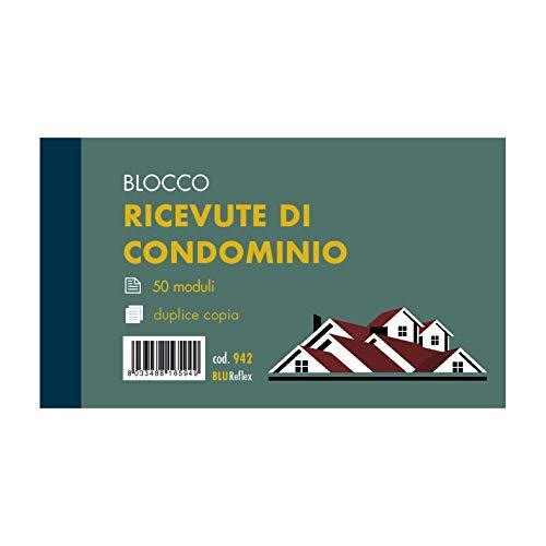 RICEVUTE DI CONDOMINIO 2 copie - F.to 17x10 - Fogli 50x2 - confezione 10 pz