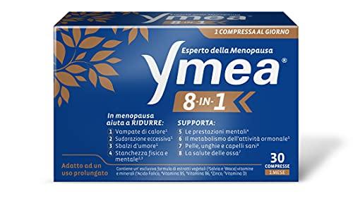 Ymea 8 In 1 Integratore Alimentare Esperto Della Menopausa, Ideale Contro Gli 8 Disturbi Più Comuni Della Menopausa, Supporta Il Metabolismo E La Salute Delle Ossa, 30 Compresse, color Bianco, 45 g