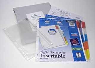 Instant Coupon Binder Kit - everything you need except the binder: 50 pages, 10 dividers, zipper pouch and bonus sleeve