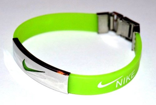 Pequeño otro batería  Neon Green Nike Wristband Bob Marley Silicone Bracelets- Buy Online in  United Arab Emirates at desertcart.ae. ProductId : 6664931.