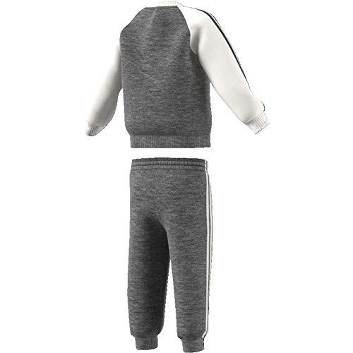 adidas Juventus 3 Stripes, Tuta da Calcio Unisex Bambini, Dgreyh/Cwhite, 6-9M
