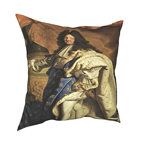Throw Pillow Funda Fundas de Almohada 45x45cm Posando Louis XIV, Sun King, XXL decoración para la decoración del hogar Oficina Sofá Holiday Bar Café Boda Coche