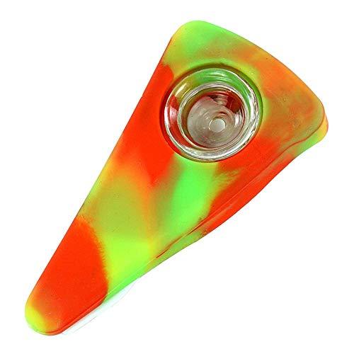 5 pipas de silicona para ahumar pizza, diseño mini, irrompible