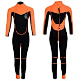 Realon Wetsuit Kids Shorties 3mm Boys Surfing Suit 2mm Children Swimwear Girls Snorkeling Diving Suits Toddler and Youth (2mm Full Orange, XS)